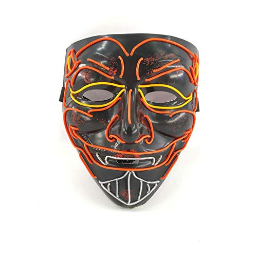 iBaste Halloween Masken EL Cold Light Leuchtmaske Geist Masken Maske Halloween Party Cosplay Kostüm Dekoration