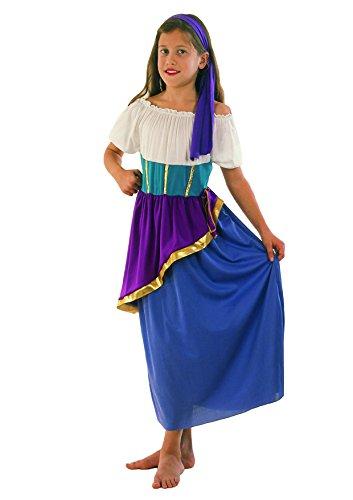 Fiori Paolo 61115 Gitana Gipsy - Disfraz de niña 5-7 anni multicolor