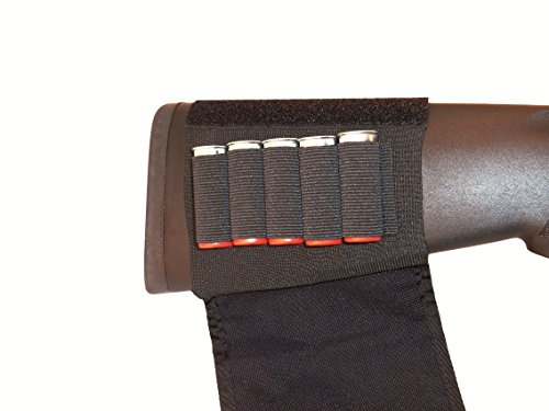 GrovTec GTAC84 Buttstock Cartridge Shell Holder, Black (Shotgun w/Flap) by GrovTec