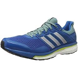 adidas Supernova Glide 8, Zapatillas de Running para Hombre, Azul (Unity Blue/Silver Metallic/Vapour Steel), 39 1/3 EU