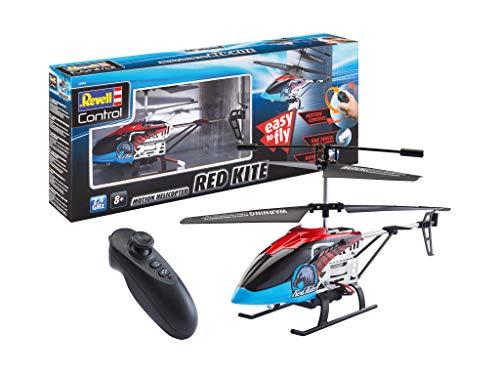 Revell Control 23834 RC Hubschrauber Motion Heli Red Kite, 2.4GHz, Steuerung über Bewegung, Akku, LED-Beleuchtung Ferngesteuerter Helicopter, rot, 25 cm