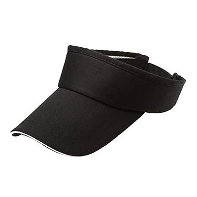 VORCOOL Sport Visor Cap Unisex Kappe UV Schutz Einstellbar für Sommer Tennis Golf Radfahren Angeln Laufen Jogging (Schwarz) von VORCOOL auf Outdoor Shop