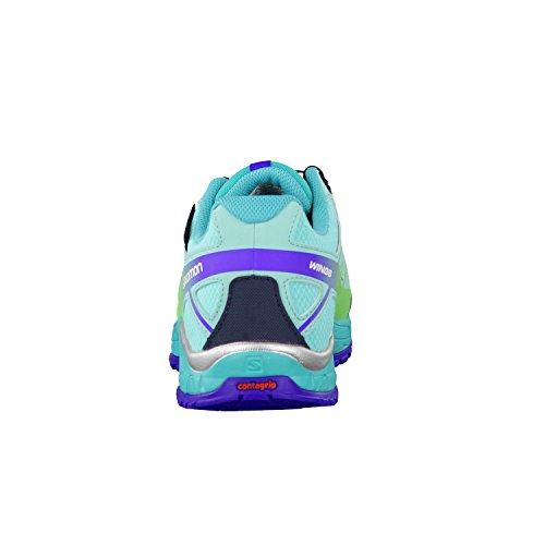 Salomon Kinder Outdoorschuhe Wings CSWP J Bubble Blue/Teal Blue F/Fresh Green