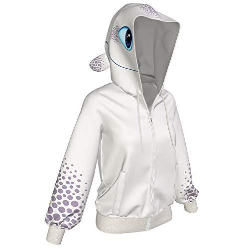 Dragon Hoodie Erwachsene Herren Damen Reißverschluss Fury Kapuzenjacke Sweatshirt Langarm Kleidung Verkleiden Kostüm Cosplay für Frühling Herbst - Für Frauen Erwachsenen-kleidung
