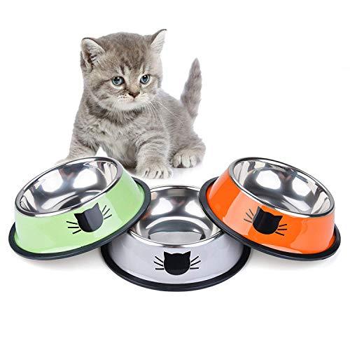 Legendog Ciotole Gatto, 3 Pezzi Scodella per Gatto in Acciaio Inox Anti Schling per Gatti