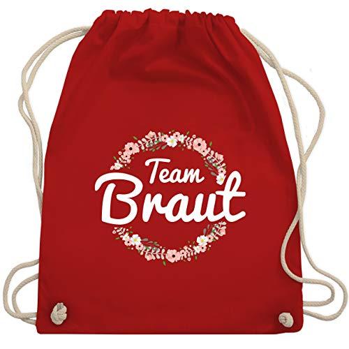 JGA Junggesellinnenabschied - Team Braut Blumenkranz - Unisize - Rot - WM110 - Turnbeutel & Gym Bag
