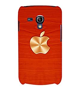 printtech Wooden Apple Back Case Cover for Samsung Galaxy S3 Mini::Samsung Galaxy S3 Mini i8190
