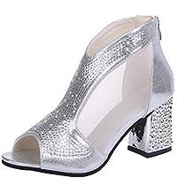 e7d75f02af3 Zapatos de Tacón Altas Ancho para Mujer Verano 2018 PAOLIAN Fiesta Zapatos  de Boca de Pescado