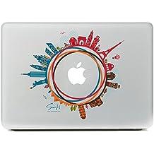 """SueH Design Mundo Simbólico Arquitecturas Adhesivo para Macbook 13 """"Air / Pro / Retina"""