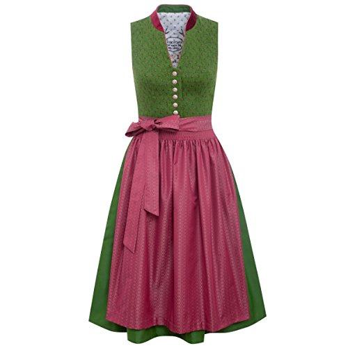 Tramontana Damen Trachten-Mode Midi Dirndl Irene in Grün traditionell