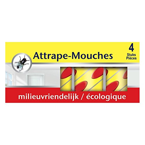 4 rubans attrape-mouches collants à suspendre