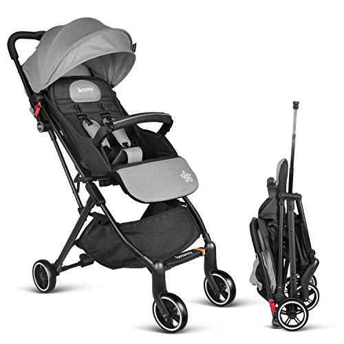 Besrey silla de paseo ligera avión compacta plegable silla paseo RECLINABLE cochecito bebe