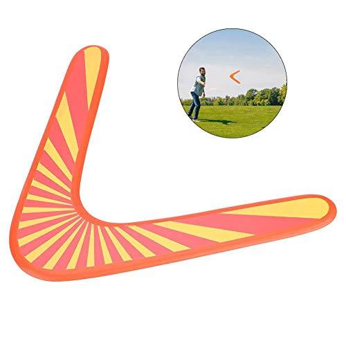 Blau-Yan Holz Bumerang V-förmige Darts Outdoor-Sportgeräte Spielzeug für Kinder (orange)