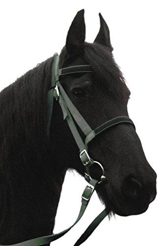 JF-Reitsport Trense Nylon mit Zügel ohne Gebiss Pony Anthrazit