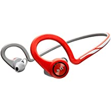 Plantronics BackBeat Fit - Auriculares In-ear inalámbricos (Bluetooth, 105 dB, 50 Hz - 20 kHz, a prueba de agua), color gris y rojo