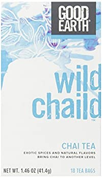 Good Earth Wild Chaild Chai Tea, 18 Count Tea Bags (Pack of 6)