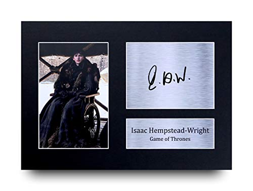 HWC Trading Isaac Hempstead Wright A4 gedrucktes Autogramm Game of Thrones