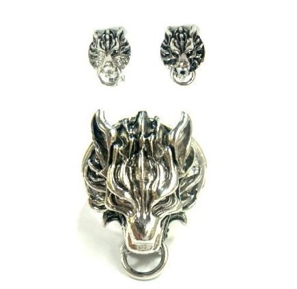 [FF7AC cloud set of 2] FF7 Cloud Cloudy Wolf ring motif earrings FINAL FANTASY VII ADVENT CHILDREN (Final Fantasy ADVENT CHILDREN) fan goods, items costume accessory accessories cosplay props (japan (Kostüm Cosplay Ff7 Cloud)