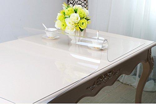 GRJH® Nappe, Pleine grandeur Plus épais 3.0mm PVC Doux verre Imperméable Anti-chaud Lavage Transparent Table basse Table en cristal Table à manger imperméable ( Couleur : #1 , taille : 70*120cm )