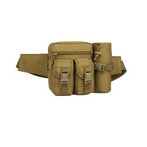 Hikenn Outdoor Gürteltasche Bauchtasche Hüfttasche Nylon Tasche Sporttasche Frautasche Schlamm Farbe