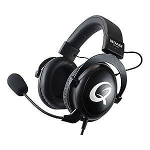 QH-92 Pro Gaming Headset Premium – Kopfhörer für PC-Gaming – PS4 – XBox – Nintendo Switch – Laptop – Smartphone und Tablet – Over Ear – 53-mm Treiber und Mikrofon mit Rauschunterdrückung