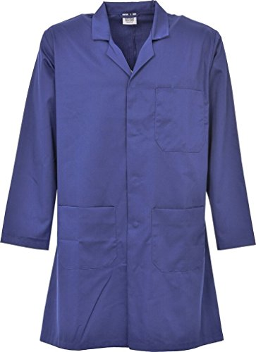 First Uniform Solutions Unisex Lab/Ärzte/Lager/Hygiene Coat DIY Coat Gr. S bis 2X L, Fldwhd01, FLDWHD01 -