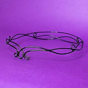 Avada elfic wire tiara, Tiara elfen Stil für Hochzeiten, Kostüme, Mottopartys, LARP, schwarze Farbe, Haarschmuck…