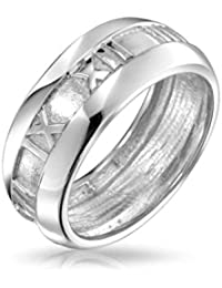 Bling Jewelry Sterling Silber römische Ziffer Ring
