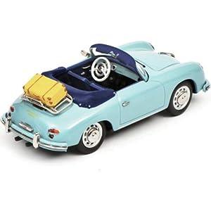 Schuco 450258400 356 A Cabrio - Portero automático 1:43, Modelo de Coche, Color Azul