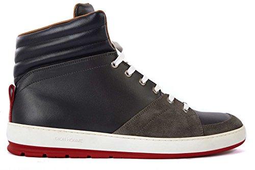 Dior scarpe sneakers alte uomo in pelle nuove grigio EU 40 3SH029VPL