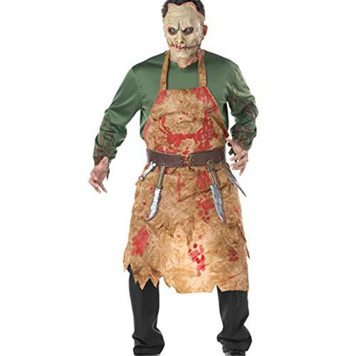 CHUAGNQI Halloween-Kostüm Blutige Metzger-Pack Chef Cospaly Dienst