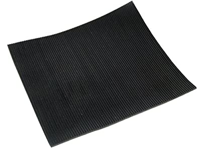 Fine Ribbed Rubber Matting - 2.5m x 1m x 3mm - Anti-Slip, Waterproof, Fluted Multi-Purpose Flooring - inexpensive UK flooring store.