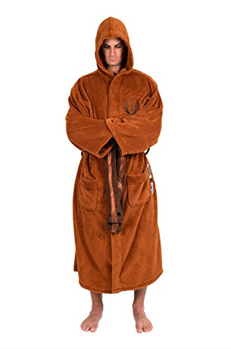Star Wars Jedi Master traje lana Albornoz alto y grande