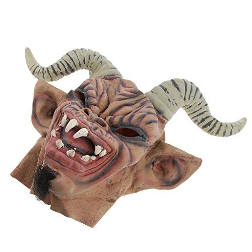 Clown und Zombie Latex Maske Halloween Cosplay und Karneval Kostüm Accessoires, Eine Größe für Alle Menschen - Schaf Corner Warcraft ()