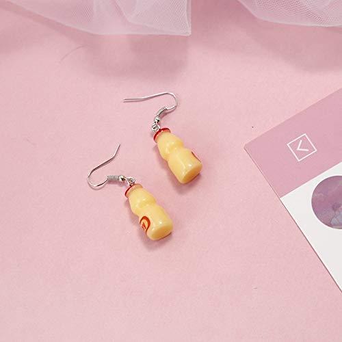 NDMPL Japan Kreative Nette Bubble Tea Stud Aussage Ohrringe Für Frauen Mädchen Persönlichkeit Milch Tee Trinken Lustige Partei Schmuck GeschenkeG