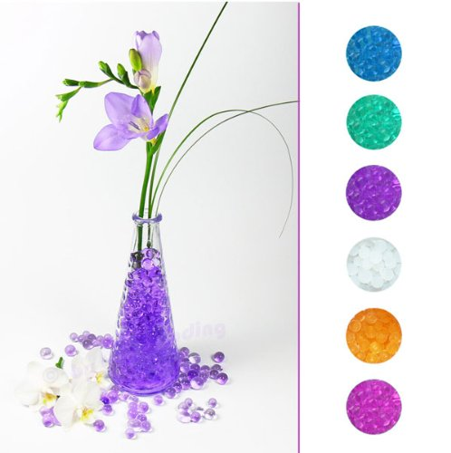 Trendfinding 240 g Deko Hydro Perlen, künstliche Blumenerde Tischdeko Gelkugeln für Blumen und Pflanzen orange -