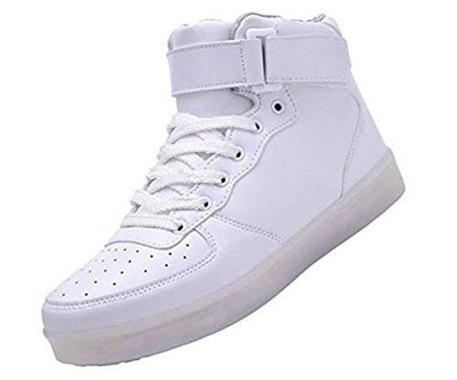 [+Piccolo asciugamano]Luci LED colorati bagliore e ricarica scarpe dargento nuovo scarpe casual USB maschio luminoso e di coppia scarpe femmin c7