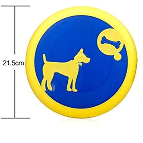 WSS Suave mordida Frisbee perro juguete juguete del animal doméstico Frisbee formación Frisbee molares juguetes de silicona . yellow
