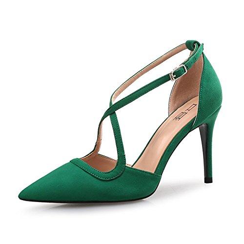 FLYRCX Unione semplice personalità lady Strappy appuntita partito tacchi scarpe dimensione europea: 33-40 C