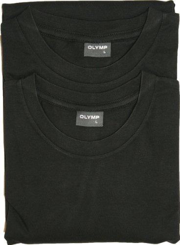 Herren T-Shirt - Doppelpack O-Neck, uni schwarz,XXXXL