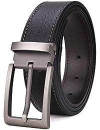 Tonly Monders Men's Genuine Leather Reversible Belt Black Brown