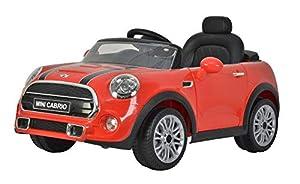 GLOBO- Mini Cooper Cabrio F57 Ride On Electric 12V Red (38971), Color (1)