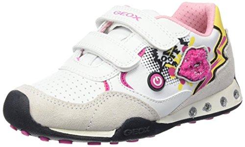 Geox Babys Jr New Jocker Girl B Erste Schritte Schuhe, Mehrfarbig (Multicolor (White)) 27 EU - Geox Jocker Girl