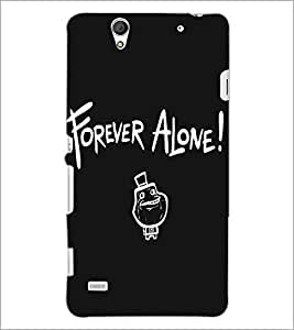 SONY XPERIA C4 FOREVER ALONE Designer Back Cover Case By PRINTSWAG