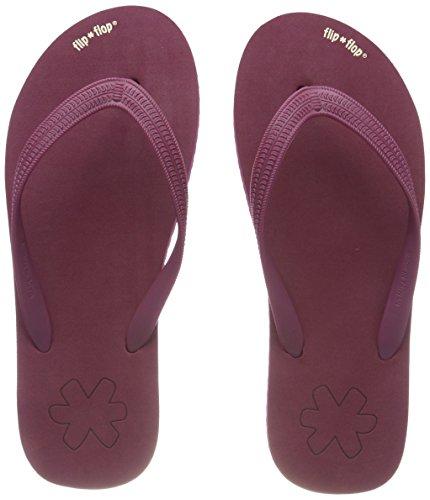 flip*flop originals, Damen Zehentrenner, Rot (Sangria), 38 EU (Flip-flops Fersen)