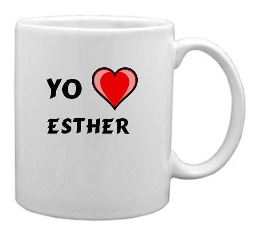 """Taza de cerámica con estampada de """"Te quiero"""" Esther"""