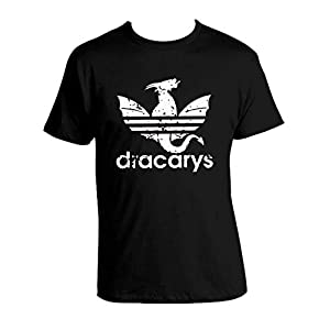 Dracarys Schwarz T-shirt A-didas Parody Mother of Dragons T-shirt 100% Cotton Black Unisex GOT