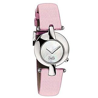D&G Dolce&Gabbana – Reloj de Cuarzo para Mujer, Correa de Cuero Color Rosa