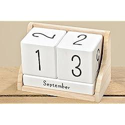 dekoria Madera Calendario 14x 7x 9cm