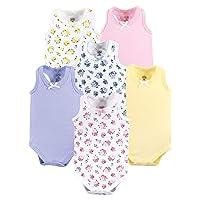 بدلة دون اكمام من قطعة واحدة قطنية للاطفال من الجنسين من لوفابل فريندز Floral 3-6 Months